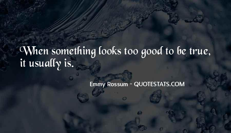 Quotes About Something Being Too Good To Be True #873252
