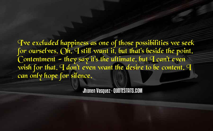 Contentment's Quotes #105313