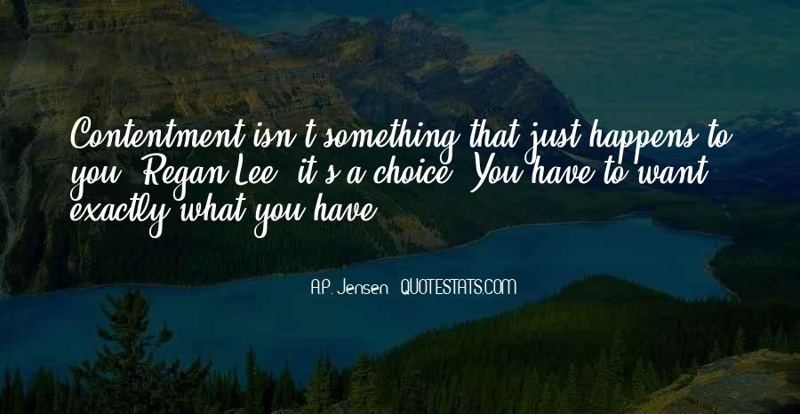 Contentment's Quotes #1257946