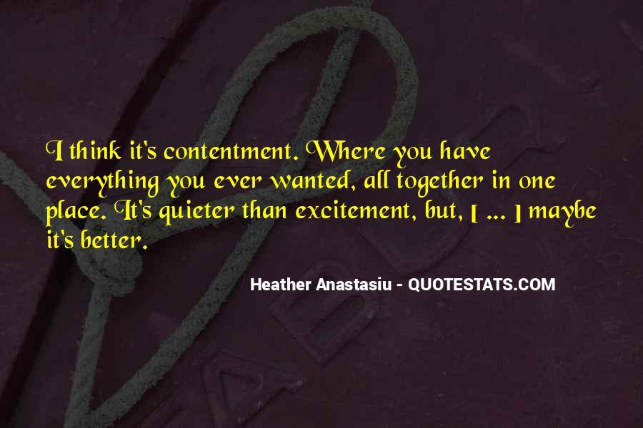 Contentment's Quotes #6523
