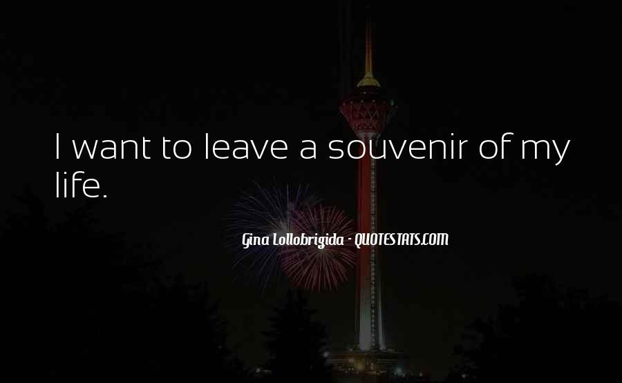 Quotes About Souvenirs #1513006