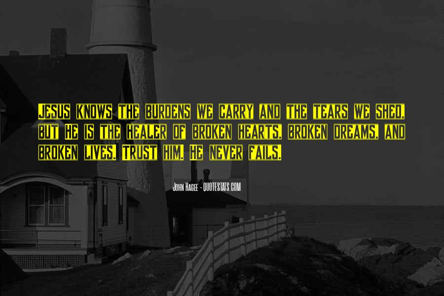 Quotes About Broken Hearts And Dreams #290162