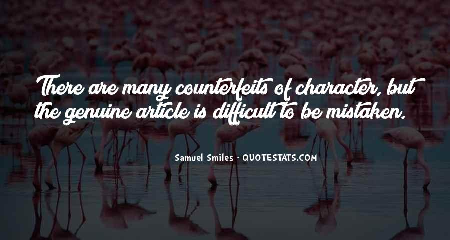 Counterfeits Quotes #840299