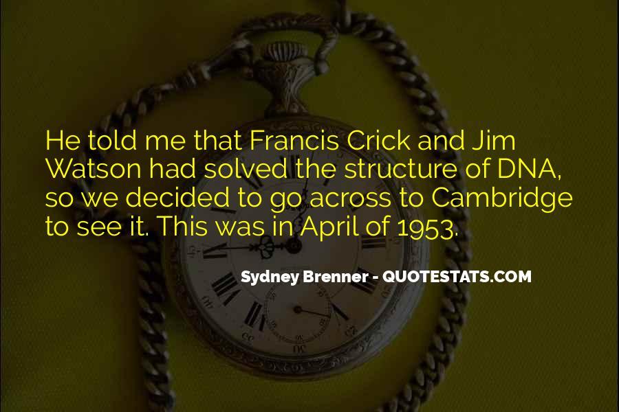 Crick's Quotes #1030934