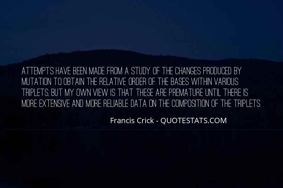 Crick's Quotes #316119