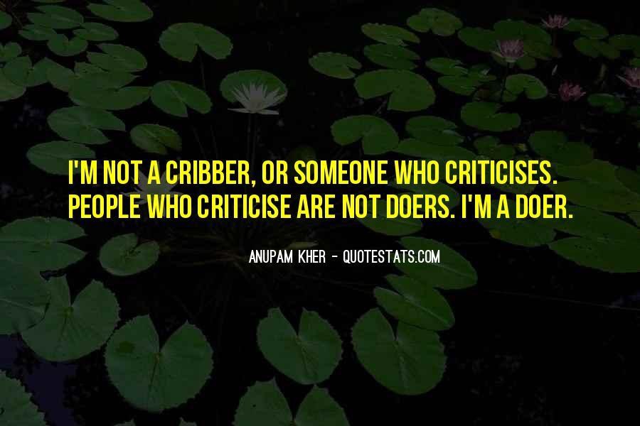 Criticises Quotes #1240029