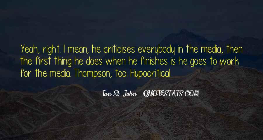 Criticises Quotes #1479457