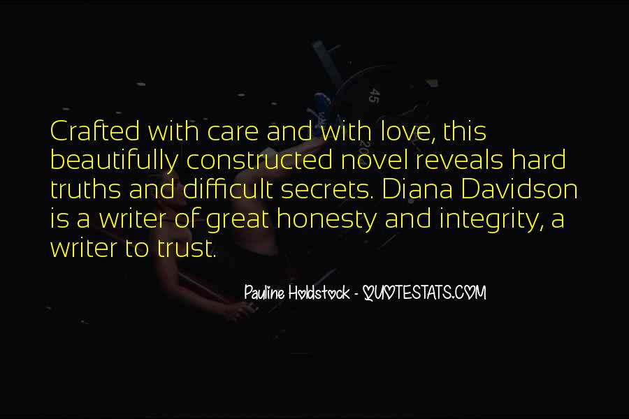 Quotes About Honesty And Trust #1401271