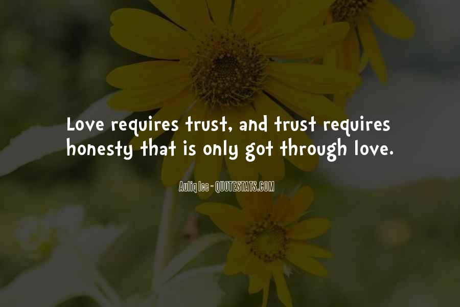 Quotes About Honesty And Trust #1840702