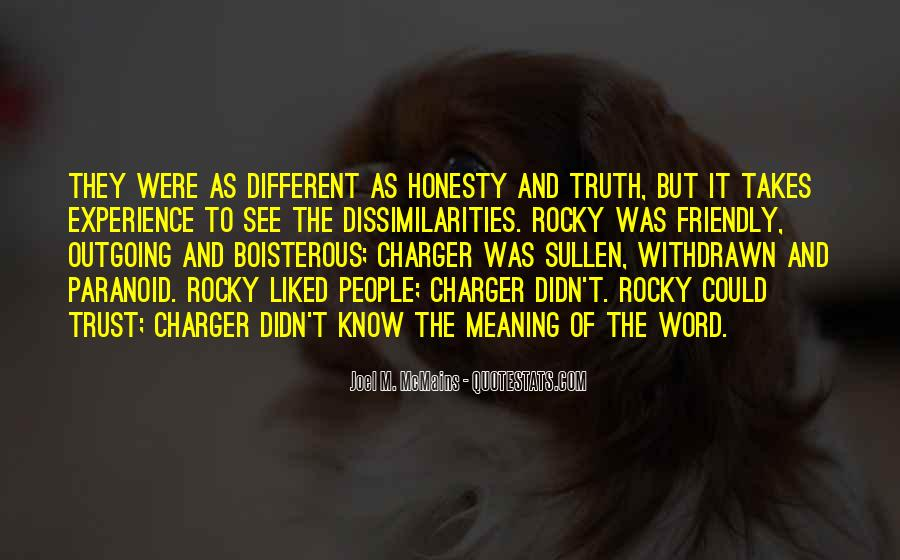Quotes About Honesty And Trust #50717