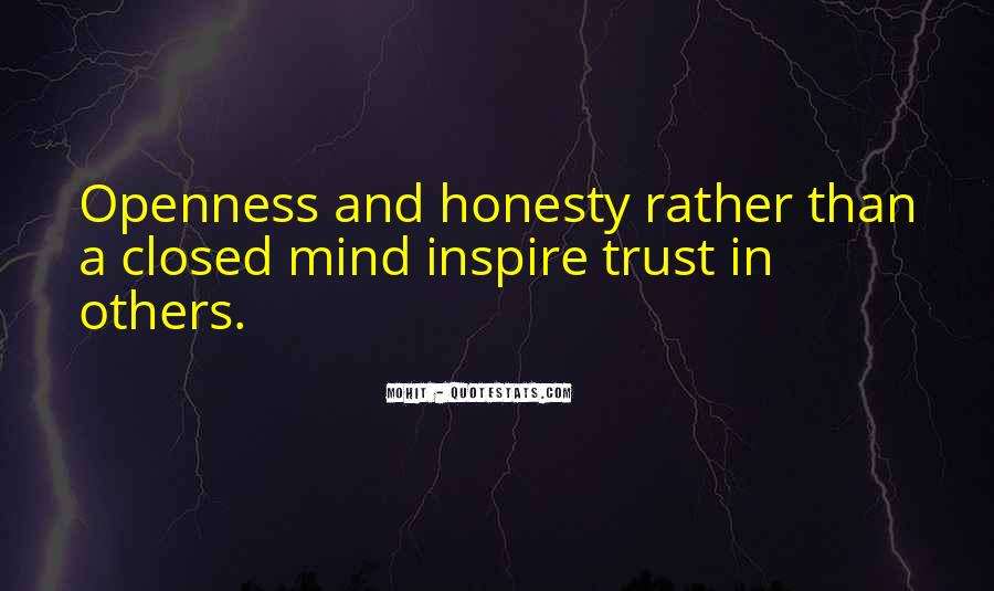 Quotes About Honesty And Trust #554095