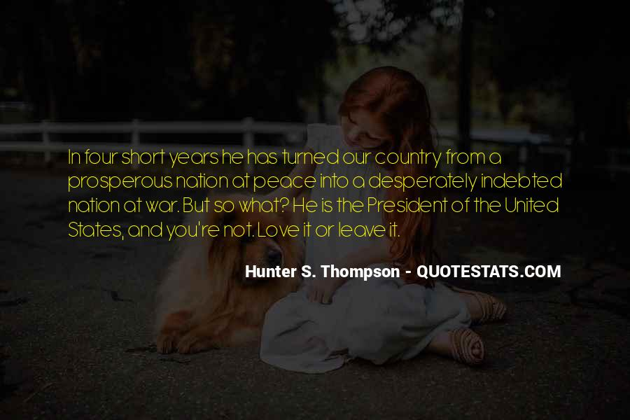 Quotes About Love Hunter S Thompson #723177