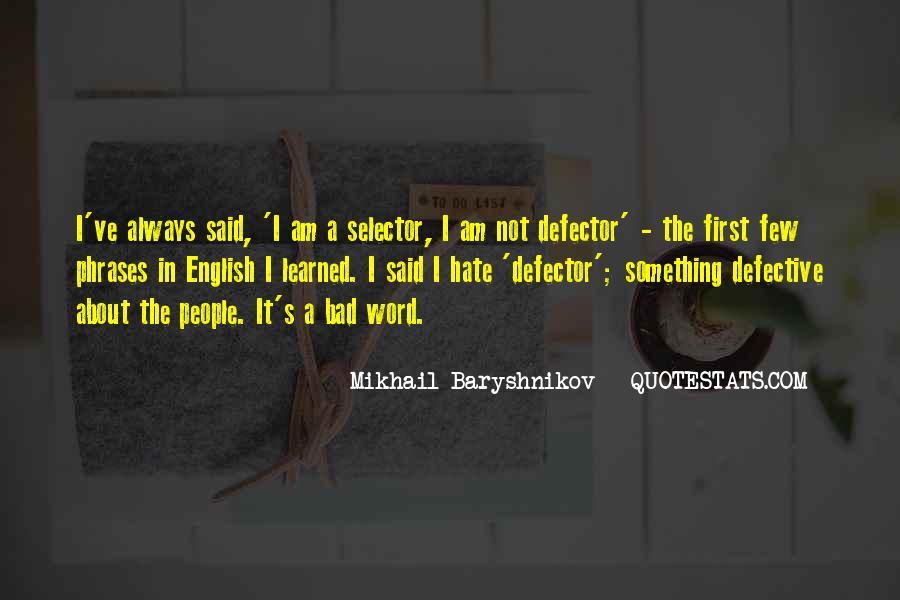 Defector Quotes #422409