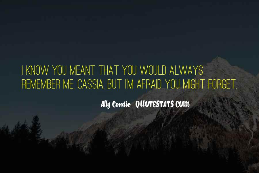Quotes About I'll Always Remember You #26070