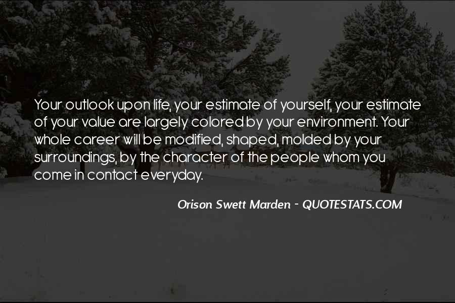 Quotes About Outlook In Life #1027495