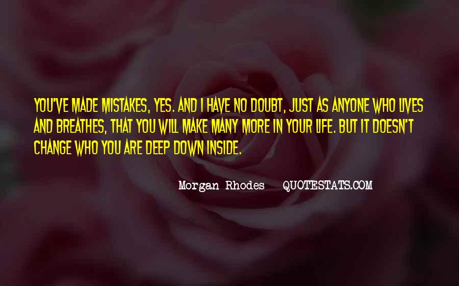 Quotes About Change And Mistakes #1809505