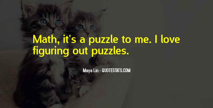 Quotes About Puzzles And Love #1619625