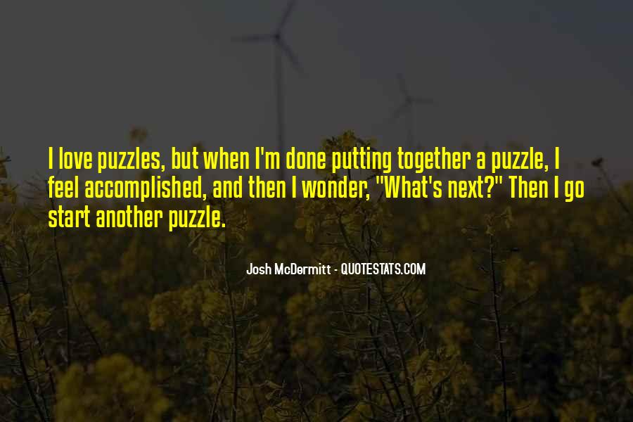Quotes About Puzzles And Love #1684099
