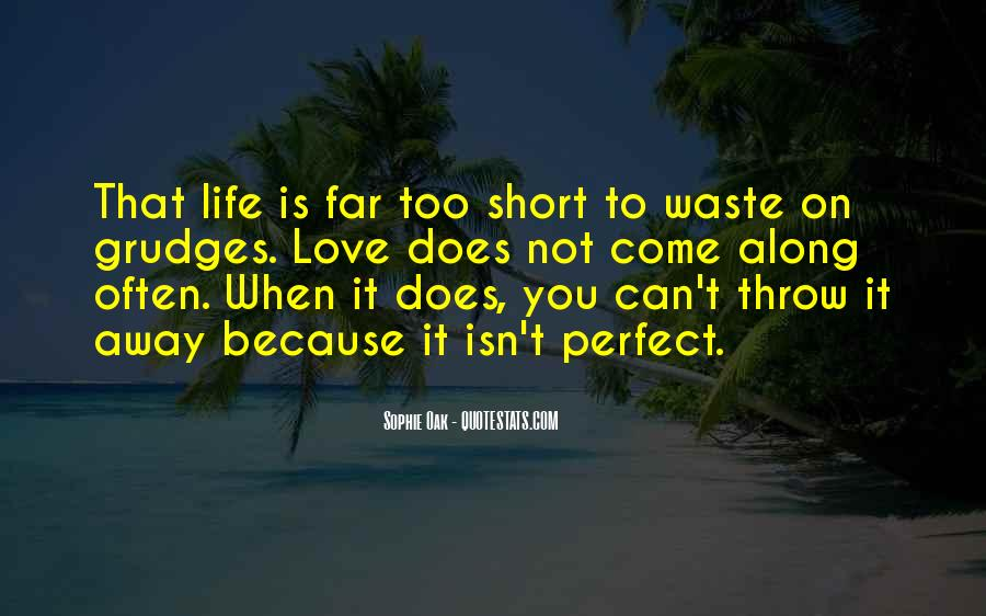 Quotes About Not Perfect Life #226557