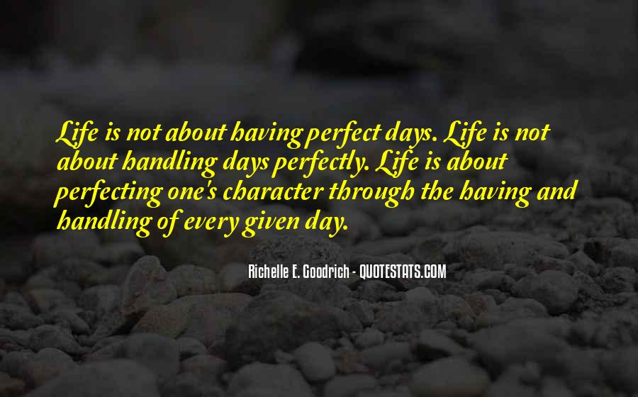 Quotes About Not Perfect Life #622507