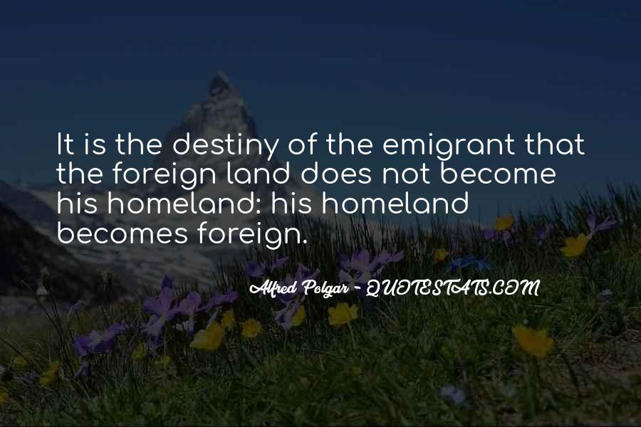 Emigrant's Quotes #167879