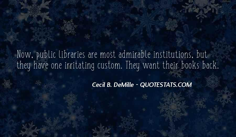 Quotes About Libraries And Art #292497