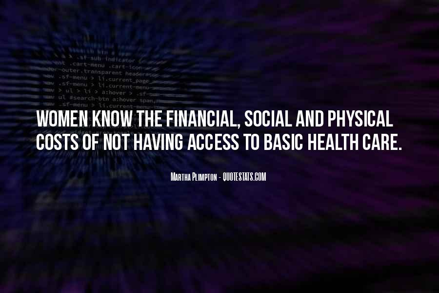 Quotes About Financial Health #1663257