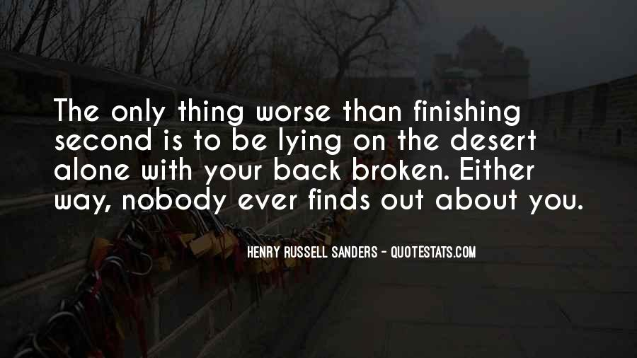 Quotes About Finishing Second #963362