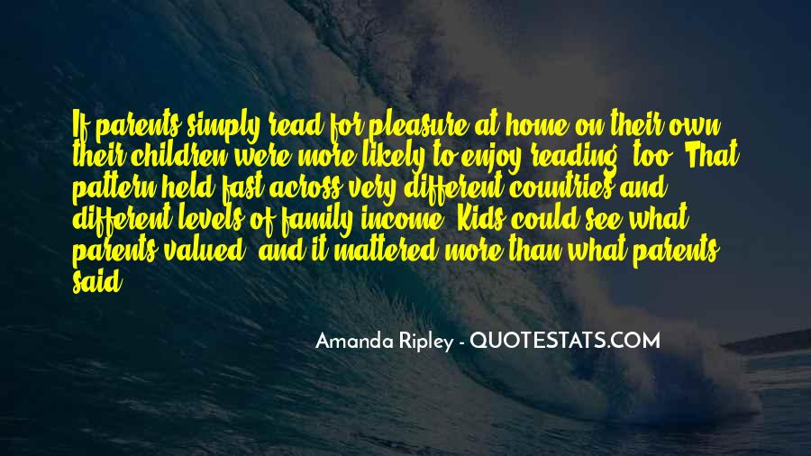 Quotes About Reading And Family #118270