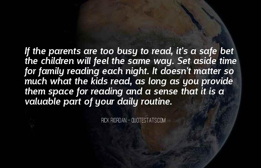 Quotes About Reading And Family #28203
