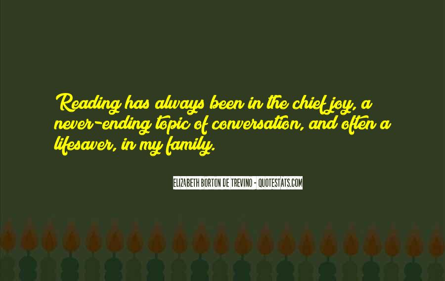 Quotes About Reading And Family #945046