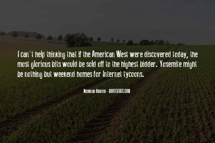 Quotes About The American West #728639