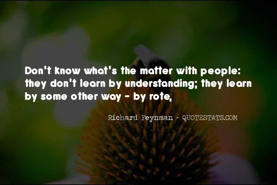 Feynman's Quotes