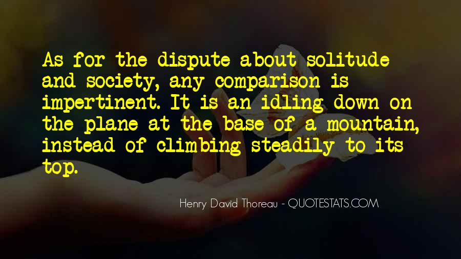 Quotes About Solitude From Henry David Thoreau #1022968