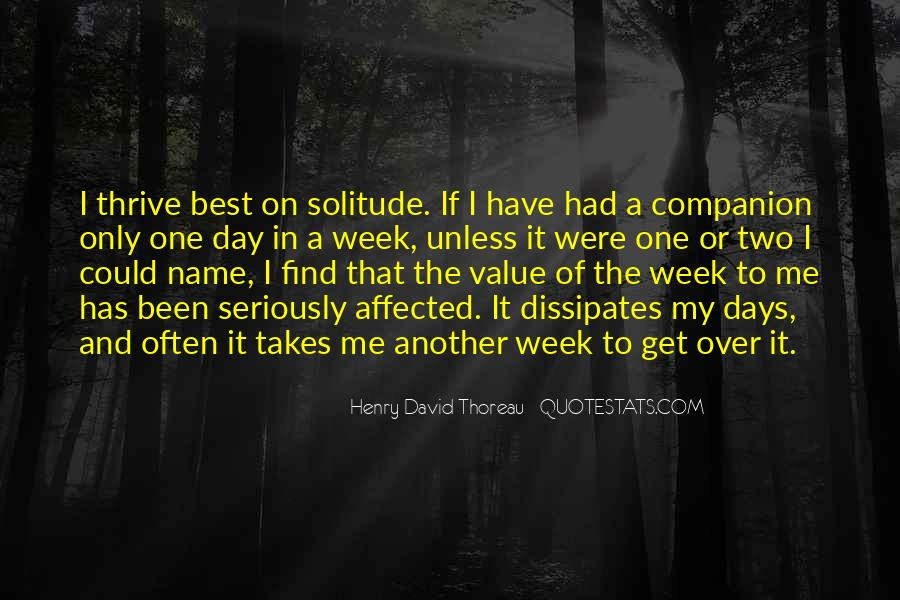Quotes About Solitude From Henry David Thoreau #1335138