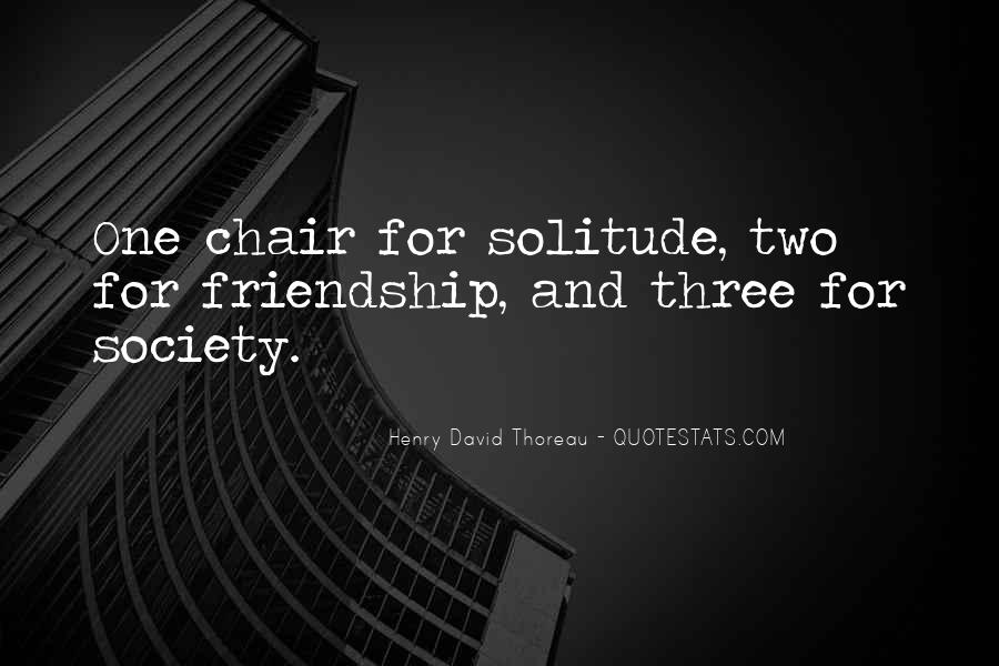 Quotes About Solitude From Henry David Thoreau #323159