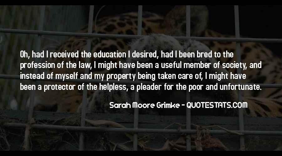 Quotes About Being Well Bred #1419159