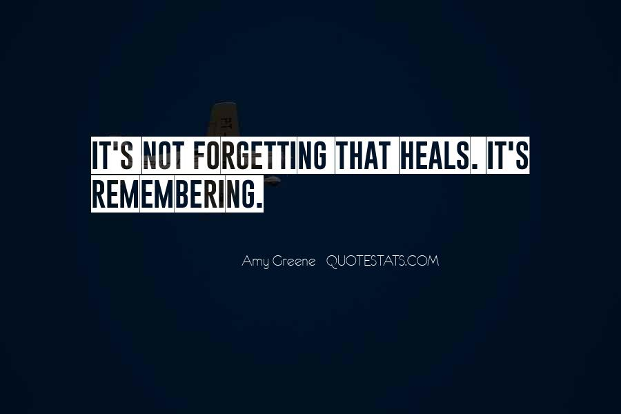 Forgetting's Quotes #232966