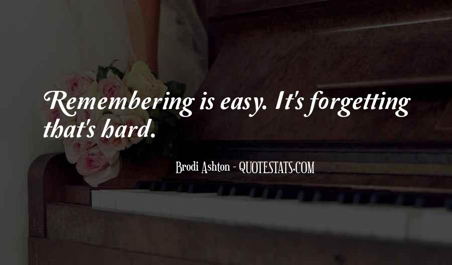 Forgetting's Quotes #680230