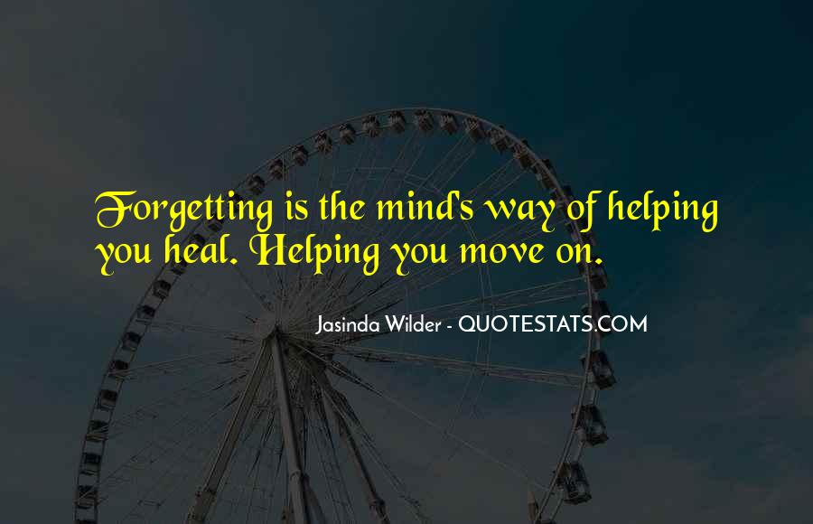 Forgetting's Quotes #743941