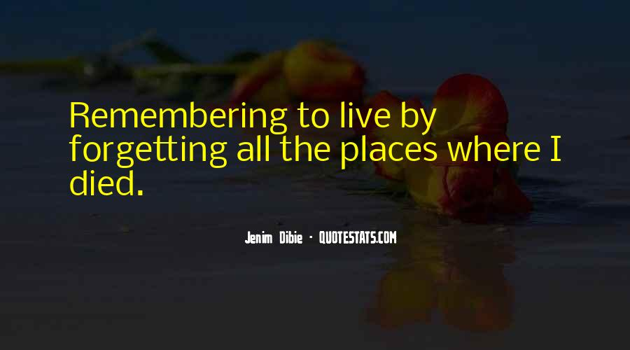 Quotes About Remembering Someone Died #1698679