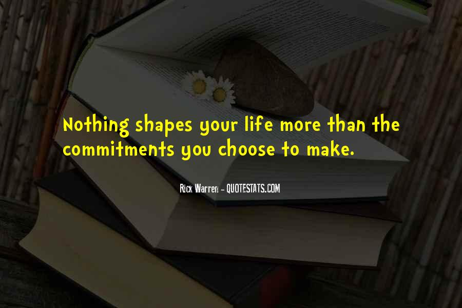 Quotes About Commitments #172229