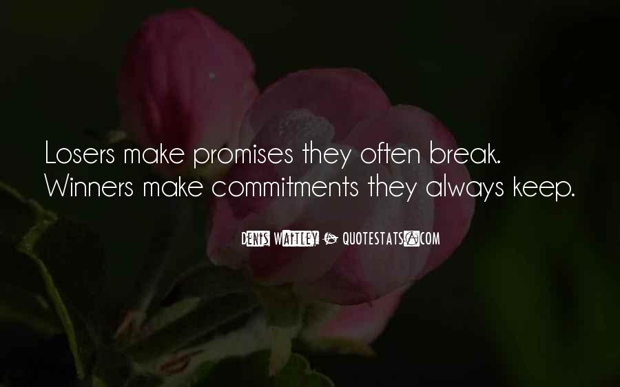Quotes About Commitments #174606