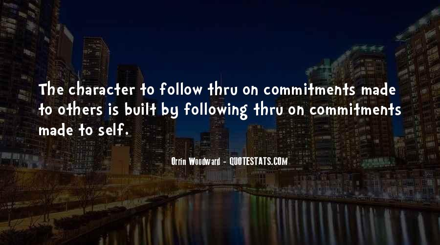Quotes About Commitments #333340