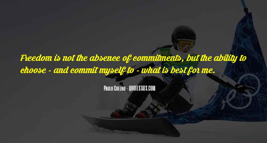 Quotes About Commitments #463821
