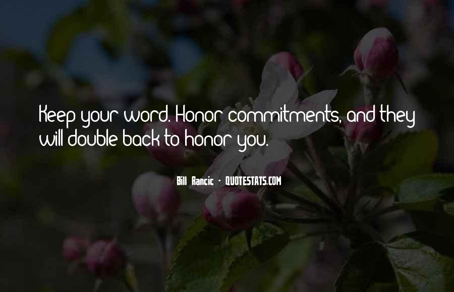 Quotes About Commitments #600138