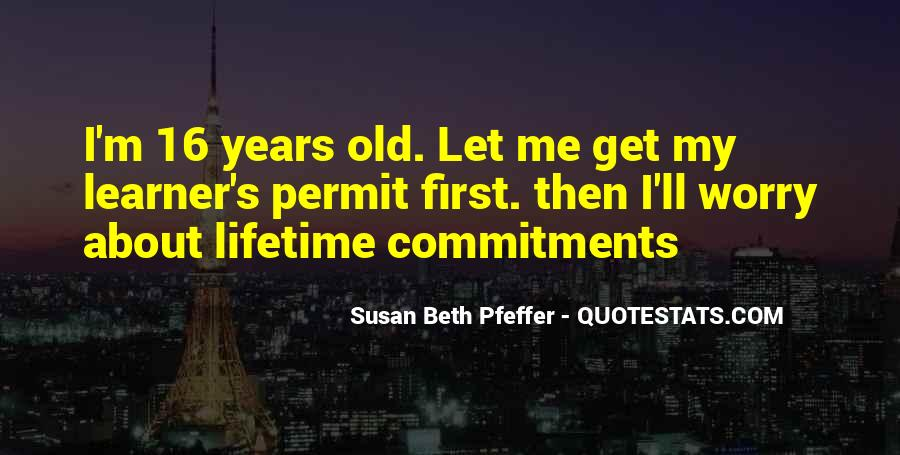 Quotes About Commitments #757187