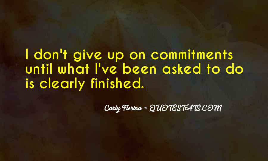 Quotes About Commitments #791809