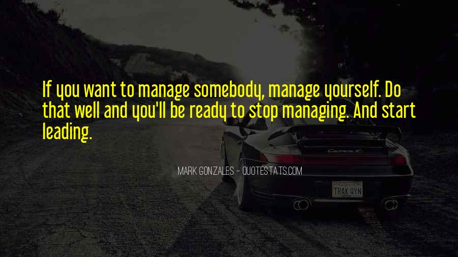 Quotes About Leading Yourself #1296451
