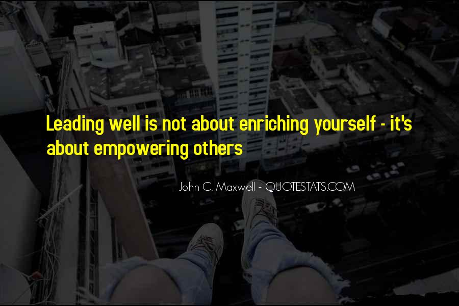 Quotes About Leading Yourself #352259